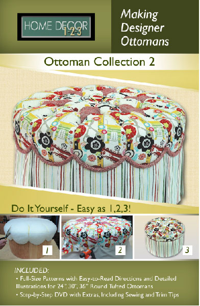 Home Decor 1-2-3 Ottoman Projects