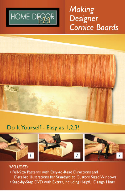 Home Decor 1-2-3 Cornice Board Projects